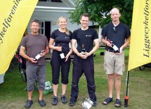 Vinderne af DM 2012. Keld, Pernille, André, Mikael